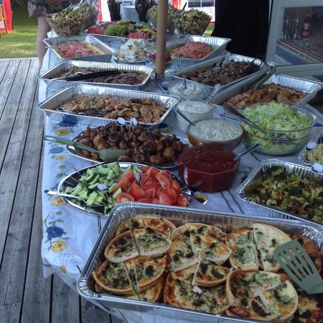 buffe 40 års fest Mat och personal från Mat i Hamn i Malmö buffe 40 års fest